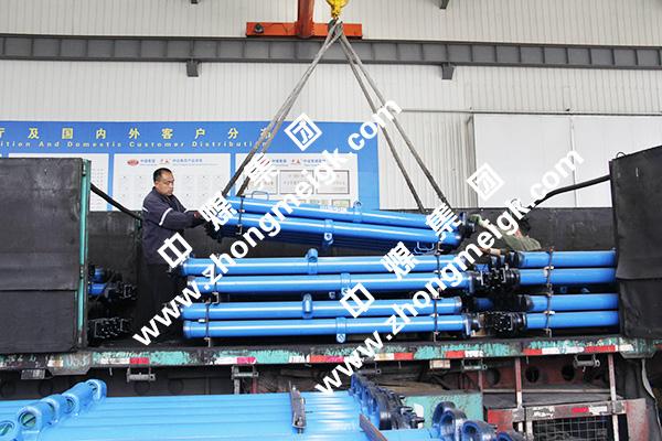 中煤集团一批液压支柱设备发往山西河津